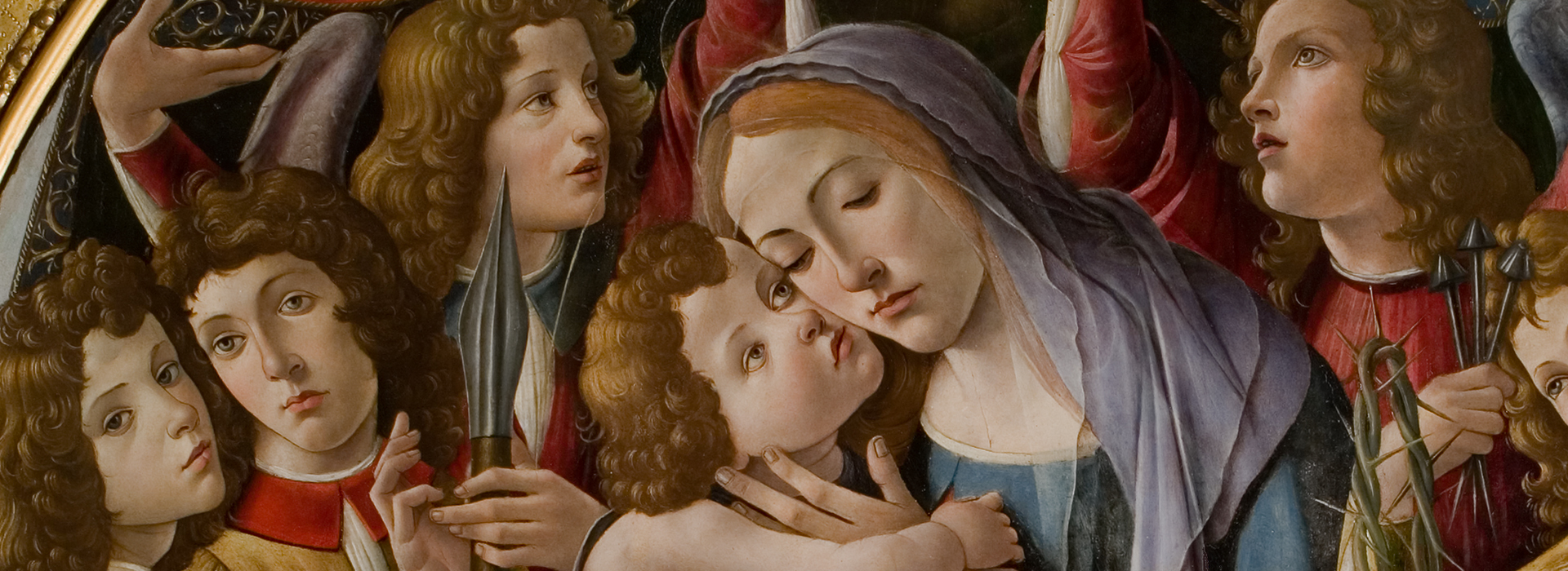 BOTTICELLI: MADONNA AND CHILD WITH SIX ANGELS